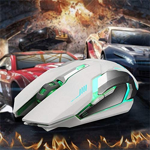 PrinceShop Rechargeable X7 Wireless Mouse New USB LED Backlit Silent Mouse Optical Ergonomic Gaming Mouse