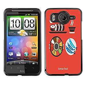 Dragon Case - FOR HTC G10 - Like Korean food - Caja protectora de pl??stico duro de la cubierta Dise?¡Ào Slim Fit