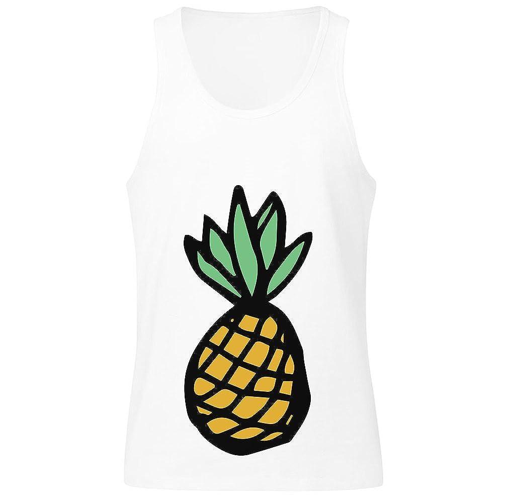 IDcommerce Crazy Fuzzy Pineapple Mens Tank Top Shirt