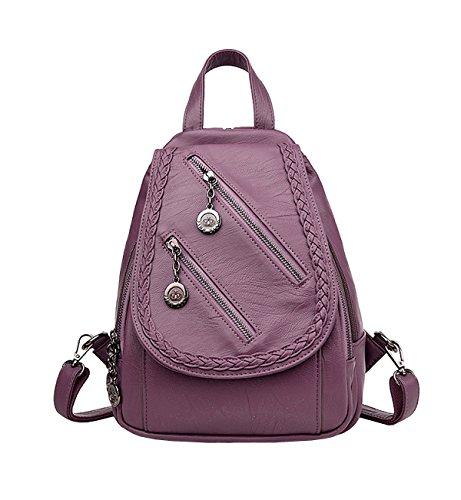 LAIDAYE Bolso De Señora Bolso De Cuero Suave Bolso De Mensajero Bolso De Hombro Bolso De Mujer Bolsa De Viaje Purple