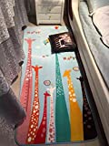 MeMoreCool Colorful Giraffe Cartoon Area Rugs Anti-slip Kids Bedroom Carpet Thicken Baby Crawling Mats Machine Washable Rugs 31 X 73 Inch Review