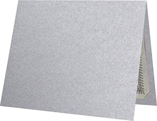 - 9 1/2 x 12 Certificate Holders - Silver Metallic (100 Qty.) | Perfect for Award Recognition, Certificates, Documents and More! | CH91212-M06-100