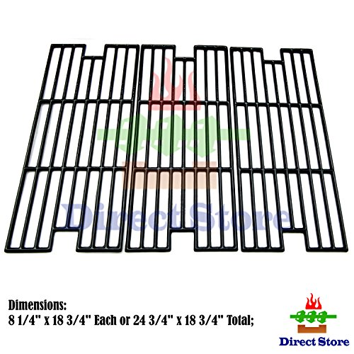 C124 Polished Porcelain Coated Cast Iron Cooking grid Replacement Kenmore, Kmart Gas Grill ()