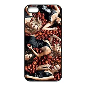 Desperate Housewives 3 funda iPhone 5 5S caja funda del teléfono celular del teléfono celular negro cubierta de la caja funda EOKXLLNCD23174