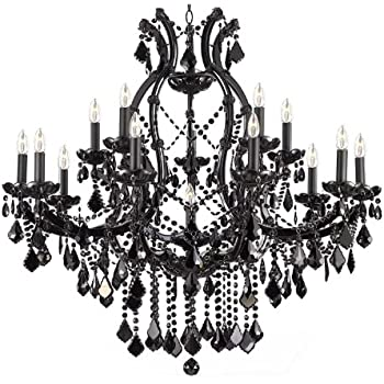 Jet black chandelier crystal lighting chandeliers 37x38 amazon jet black chandelier crystal lighting chandeliers 37x38 aloadofball Images