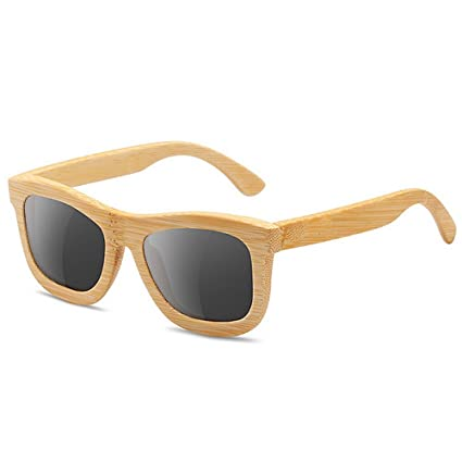 Estilo simple niños gafas de sol de bambú y madera ...