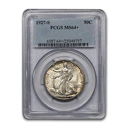 1927 S Walking Liberty Half Dollar MS-64+ PCGS Half Dollar MS-64 PCGS