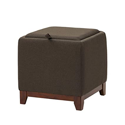 Low Stools Footstools Ottoman Storage Stool Pouffe Upholstered Footrest  Multifunction Wooden Practical Footstool For Living Room