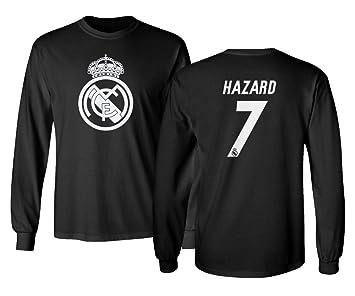 Amazon.com: Tcamp Real Madrid Eden Hazard #7 - Camiseta de ...