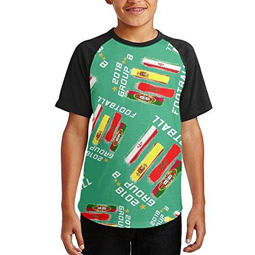 2018 FOOTBALL GROUP B Youth Short Sleeves Raglan Print Baseball T-Shirts Tops hot sale