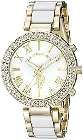 U.S. Polo Assn. Women's USC40065 Gold-Tone and White Bracelet Watch (Gold Tone Metal Watch)