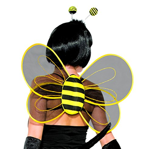 Forum Novelties 78561 Halloween Sexy Bumblebee Sheer Costume Wings Party Supplies, One Size, Black/Yellow