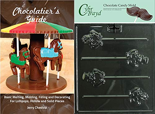 Clear Cybrtrayd Maken Mold MNM3104 Frog Prince Chocolate Candy Mold with Chocolatiers Guide Regular