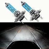 Gaddrt 2Pcs H7 LED 6000K Fog Light High Bright Xenon Gas Halogen Headlight White Light Lamp Bulbs White 100W 12V