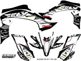 2007 yfz 450 graphics - Senge Graphics 2003-2008 Yamaha YFZ 450 (Steel Frame), 13 Fly Racing Black Graphics Kit