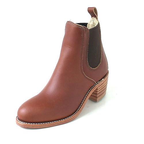 Red Wing Shoes - Botas de Piel para Mujer marrón Marrón (Cognac), Color