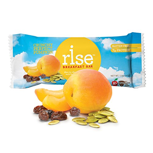 Rise Bar Non-GMO, Gluten-Free Breakfast Bars, Crunchy Perfect Pumpkin, 12-Count