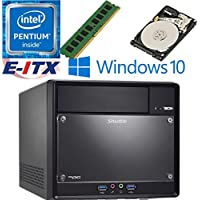 Shuttle SH110R4 Intel Pentium G4600 (Kaby Lake) XPC Cube System , 4GB DDR4, 2TB HDD, DVD RW, WiFi, Bluetooth, Window 10 Pro Installed & Configured by E-ITX