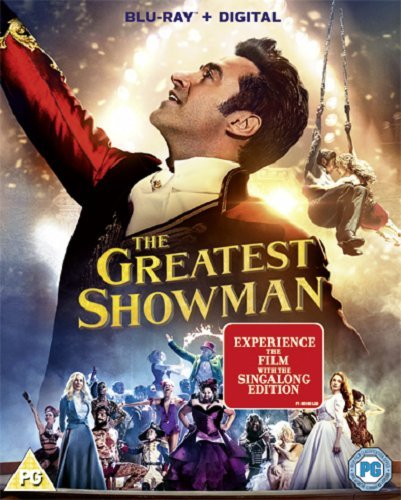 The Greatest Showman  Blu Ray   Digital Download  Movie Plus Sing Along  2017
