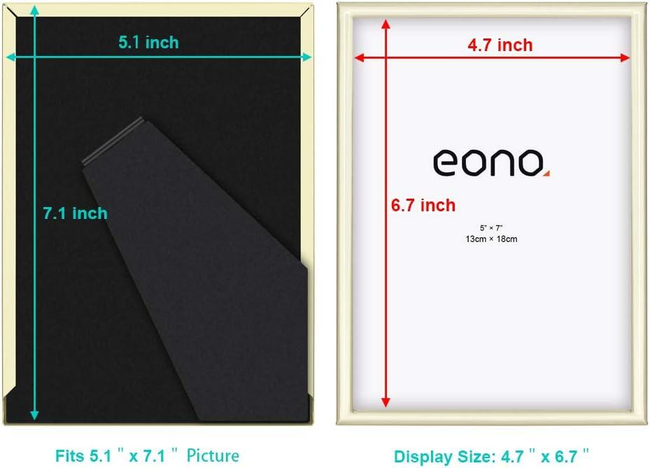 pour Photos de 10x15 cm avec Verre Haute d/éfinition /à Poser sur Un Meuble ou /à accrocher au Mur Argent/é Eono by Acier Cadre en m/étal