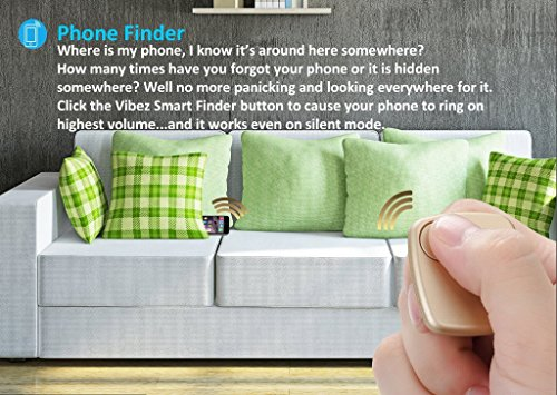 Key Finder By Great Vibez, Dog & Car Finder, Best For Locating Cell Phones, Car Keys, Remotes BONUS How To Ebook & Replaceable Battery Included Save Your Time w/ the VSF Bluetooth Tracker Device!