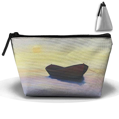 (RobotDayUpUP Sunrise Nautical Sailor Boat Of Pirate Womens Travel Cosmetic Bag Portable Toiletry Brush Storage High Capacity Pen Pencil Bags Accessories Sewing Kit Pouch Makeup Carry Case)
