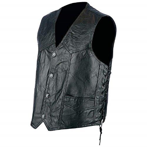 - Rocky Ranch Hides Rock Design Genuine Hog Leather Biker Vest