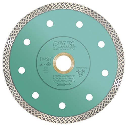 Pearl Abrasive P4 DIA04TT Turbo Mesh Blade for Porcelain and Granite 4 x .048 x 7/8, 20mm, 5/8