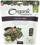 Organic Traditions Organic Nibs, Cacao, 8 Ounce (Pack of 12)