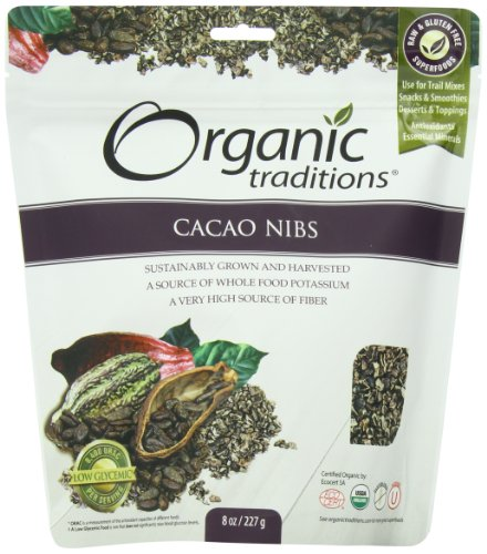 Organic Traditions Organic Nibs, Cacao, 8 Ounce (Pack of 12) by Organic Traditions