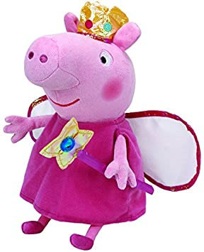 Peppa Pig Peluche princesa, 40 cm, color rosa (TY 96259TY)