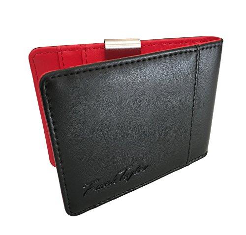 Handmade Leather Money Clip Wallet by Frank Taylor - Warranty, RFID, Minimalist (Black / ()