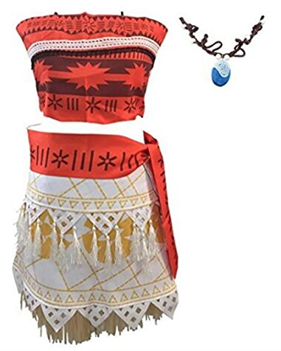 JerryCostume Halloween Cosplay Costume Skirt Set with Necklace for Women (Best Halloween Costumes For Asian Girls)
