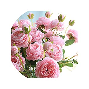 Dream-catching 1/3 Heads Fake Flower European Style Core Artificial Flower Wedding Peony Decoration Foreign Peony Fake Flower 28