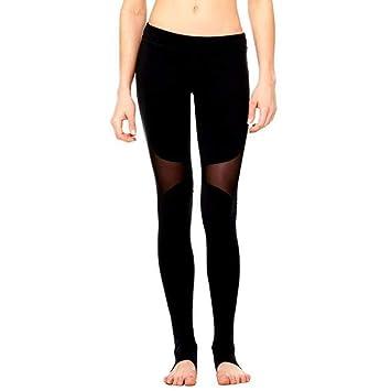 KAKAYO Malla Negra Pantalones De Yoga Sexy Cintura Ropa ...
