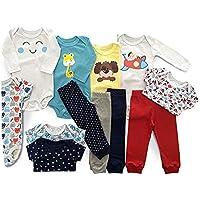 Body Bebê Mijão Liso Estampado Kit 12 Pçs Roupa Bebê Menino