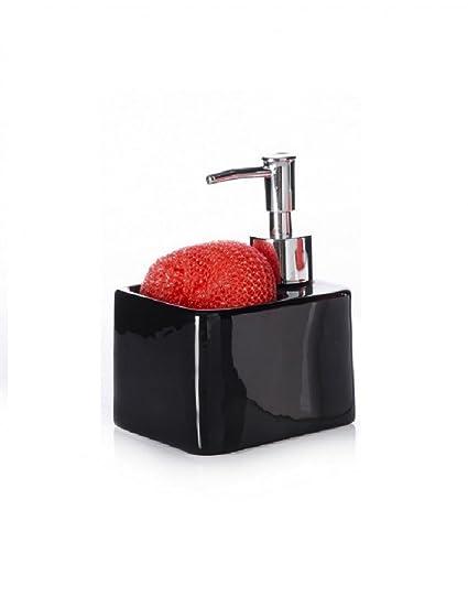 Dispensador de jabón para cocina . Cerámica - Negro