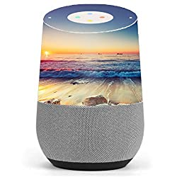 Skin Decal Vinyl Wrap for Google Home stickers skins cover/ Beach Tide Water Rocks Sunset
