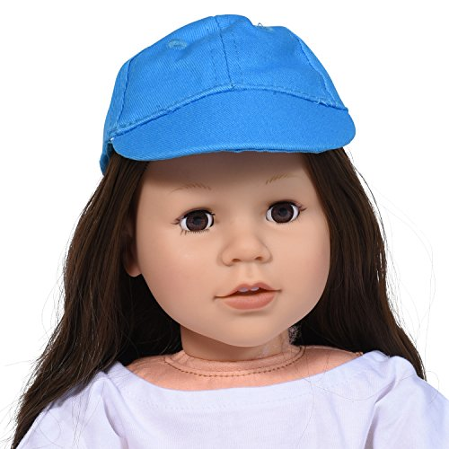 18 Inch Doll Baseball Cap Blue - Doll Cap - Doll Hat Accessories fits 18 Inch Dolls and fit American Girl Dolls