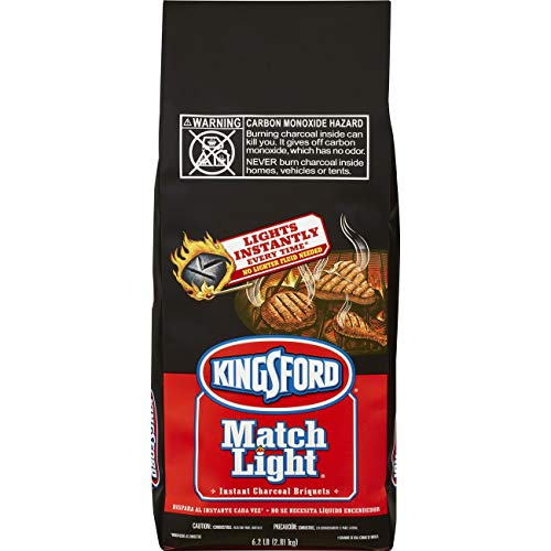 Kingsford Match Light Charcoal Briquettes, 6.2 Pounds (Pack of 2) - Lighting Charcoal Briquettes