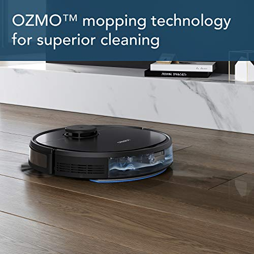 ECOVACS DEEBOT OZMO 950 2-in-1 Vacuuming & Mopping Robot with Smart Navi 3.0 Systematic Custom Cleaning, Up to 3 Hours of Runtime, Multi-Floor Mapping, 3 Levels of Suction Power, Hard Floors & Carpets