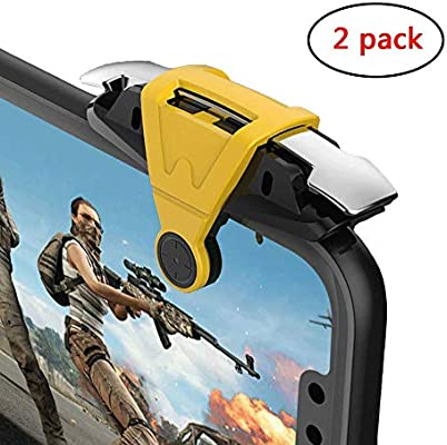 Cell Phone Game Triggers Sensitive Aim Keys,Use Four Fingers to Control More Stable and More Comfortable Compatible with FPS and TPS Games GXSLKWL Simple Mobile Game Controller