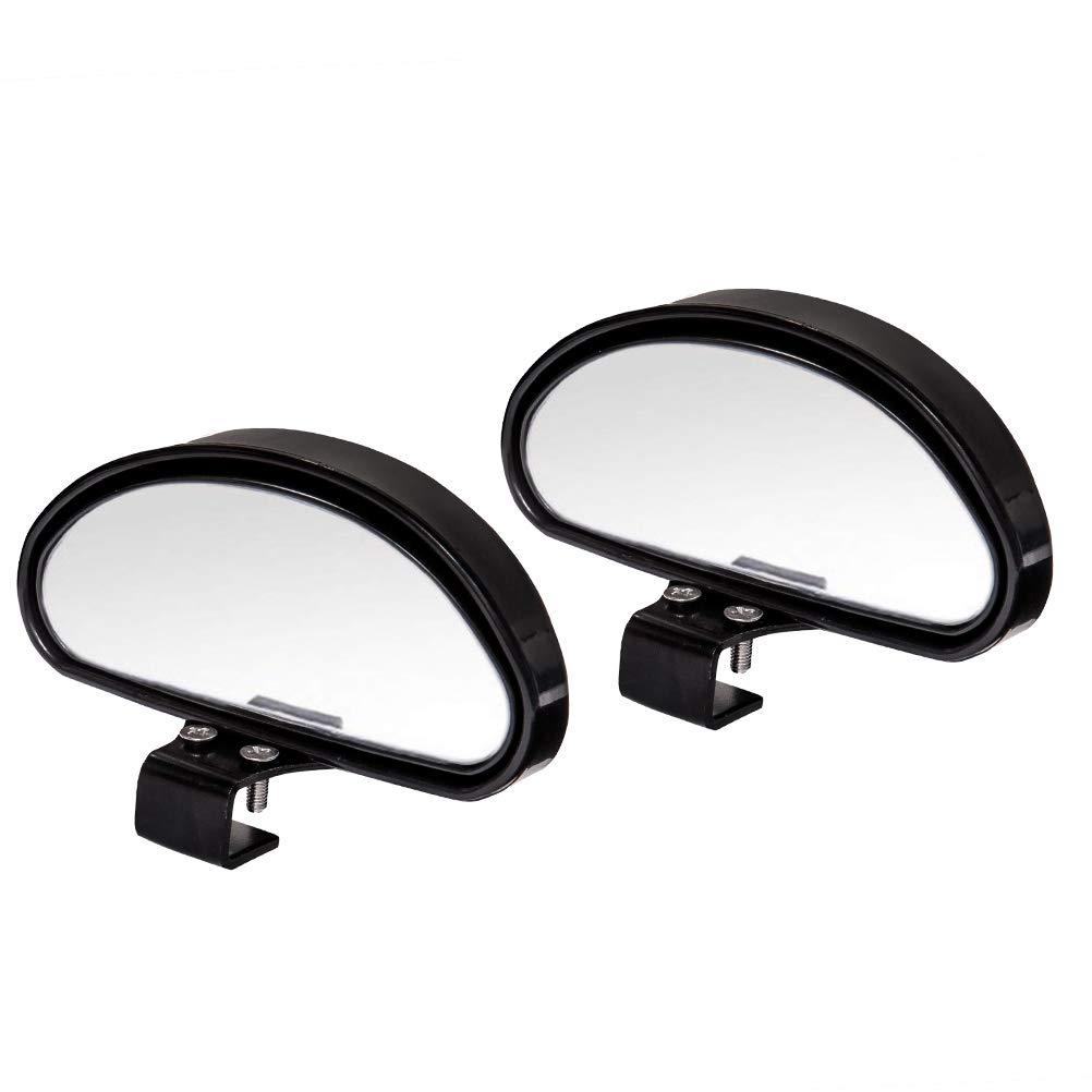 WildAuto Specchio Retrovisore Aggiuntivo Grandangolo Specchietti per Angolo Morto Punto Cieco specchio retrovisore ausiliario Autoscuola, regolabile ad alta definizione(Type B-2 pcs) UK-WA-White Mirror-2pcs