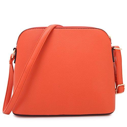 Cute Crossbody Purses Lightweight Medium Tassel 7660 with Handbags Orange Bags DASEIN EqRXwfW