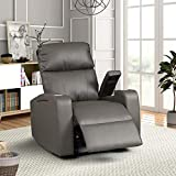 AC Pacific TERRY-1663-GREY Recliner, Gray