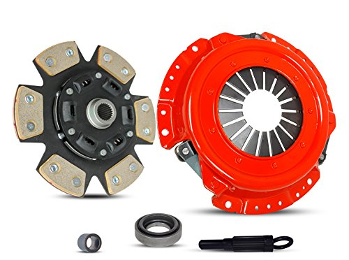 Clutch Kit Works With Nissan 240Sx Base Se Le Coupe Hatchback Convertible 2-Door 1991-1998 2.4L L4 GAS DOHC Naturally Aspirated (KA24DE; 5 Speed; 6-PUCK DISC STAGE 3)