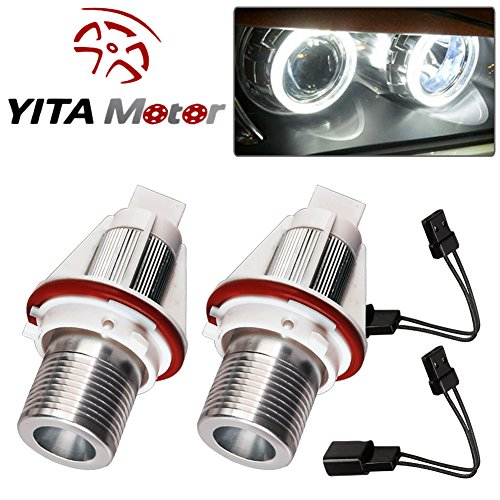 Angle Eye Led Halo Ring White Lights for BMW US E39 E53 E61 E60 (Bmw Headlight Rings)