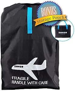 Zohzo Car Seat Travel Bag - Drawstring Bag for Air Travel (Black)