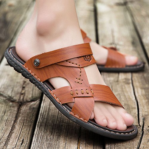 Grueso Brown Skid Verano sandals Sandalias De 6608 Zapatillas Zapatillas Fondo Playa Sandalias Red Hombres zEqEOCW4