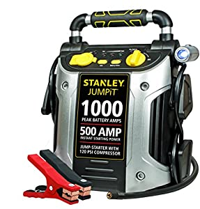 Stanley JC509 1000 Peak Amp Jump Starter with Compressor